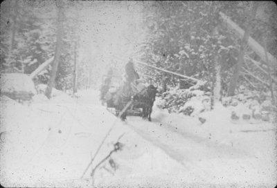 Log Sleigh on Ice Road