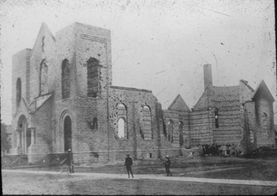Aftermath of St. Anne's Church Fire
