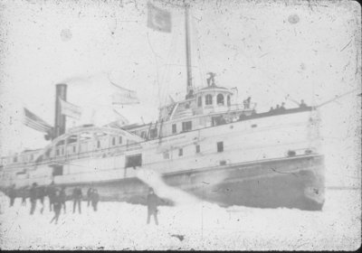 Steamer in Thunder Bay River