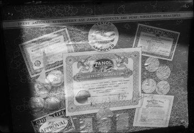 Zanol Company Product Certificates