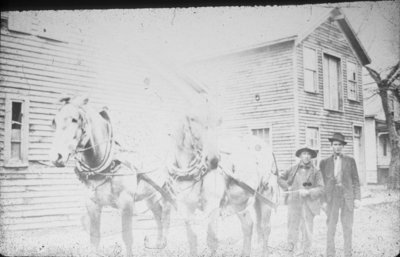 Men with Horse Team