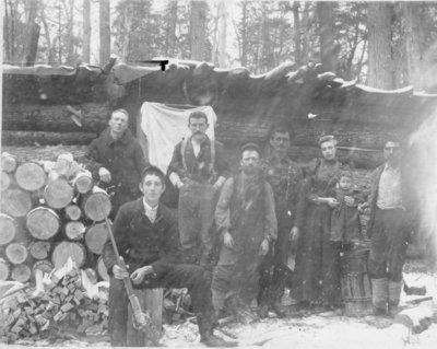 Haltiner Family at Logging Camp