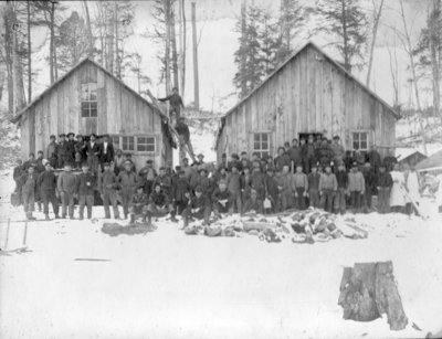 Native American Logging Camp