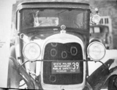Michigan State Police patrol Car, 1930
