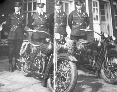 Michigan State Police Motorcycle Team, c 1930s