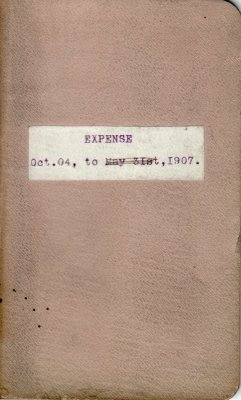 Henry K. Gustin's Account Book for Land and Timber Expenses