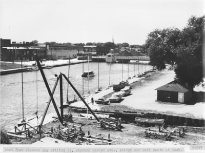Thunder Bay River below the Second Avenue Bridge