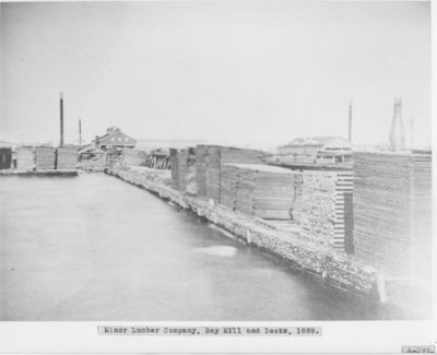 Minor Lumber Company at the Mouth of the Thunder Bay River