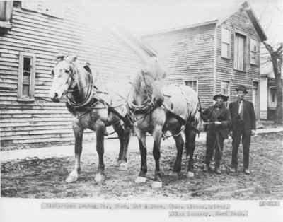 Richardson Lumber Co. Horse Team