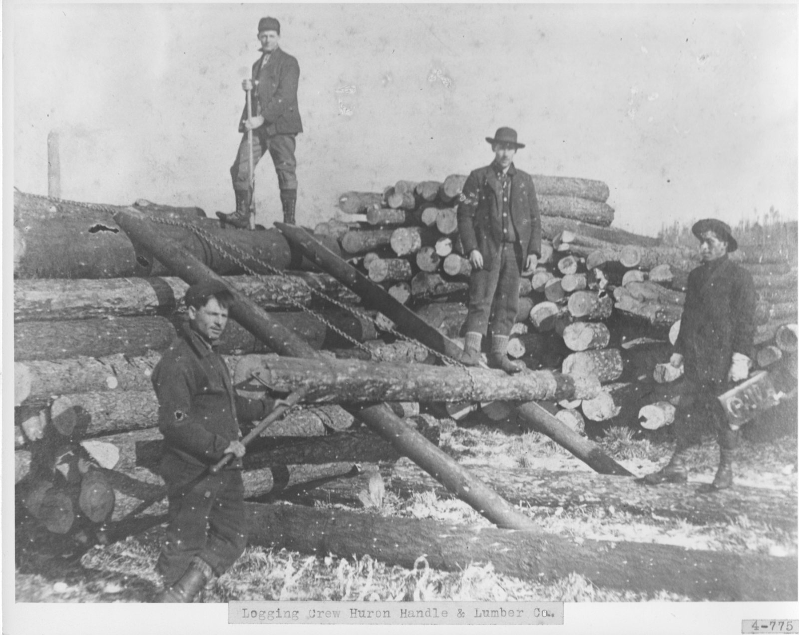 Logging Crew, Huron Handle & Lumber Co., Alpena, MI