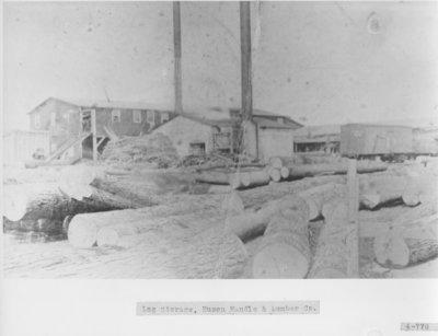 Log Storage, Huron Handle & Lumber Co., Alpena, MI