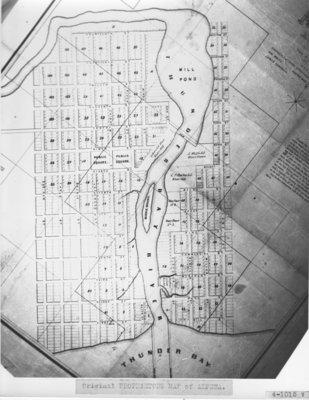 Original Proprietors' Map of Alpena