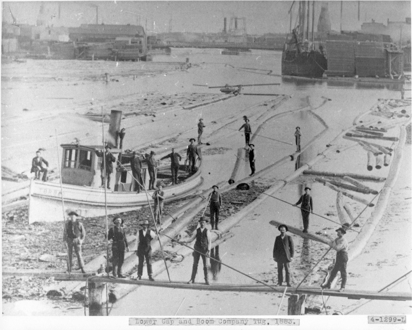 Lower Gap and Boom Company Tug, Thunder Bay River