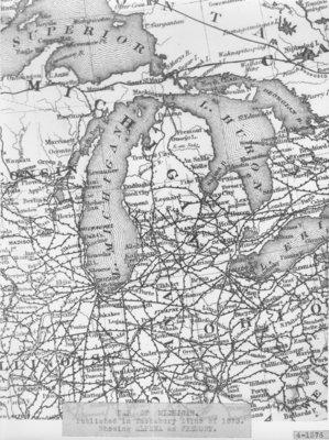 1873 Michigan Map