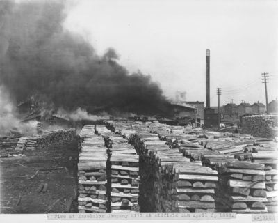 Alpena Excelsior Company Mill Fire