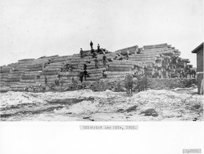 Gilchrist Lumber Company Log Pile