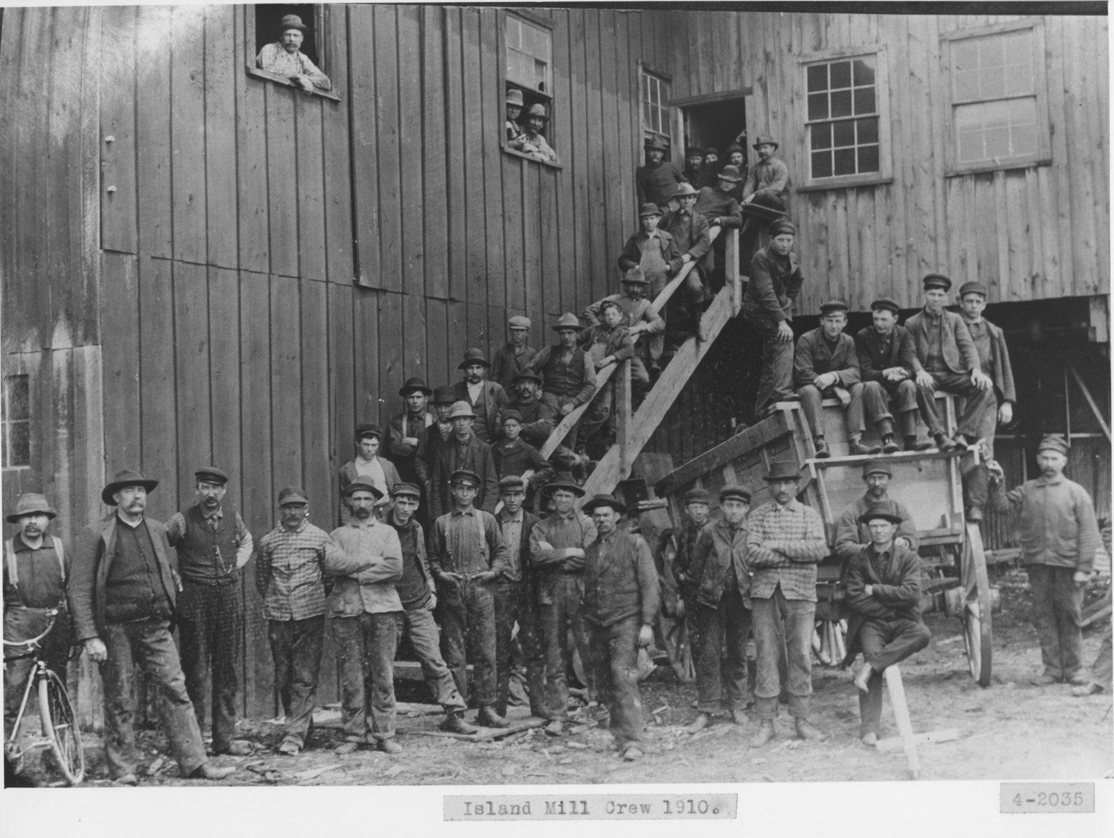 Island Mill Sawmill Crew