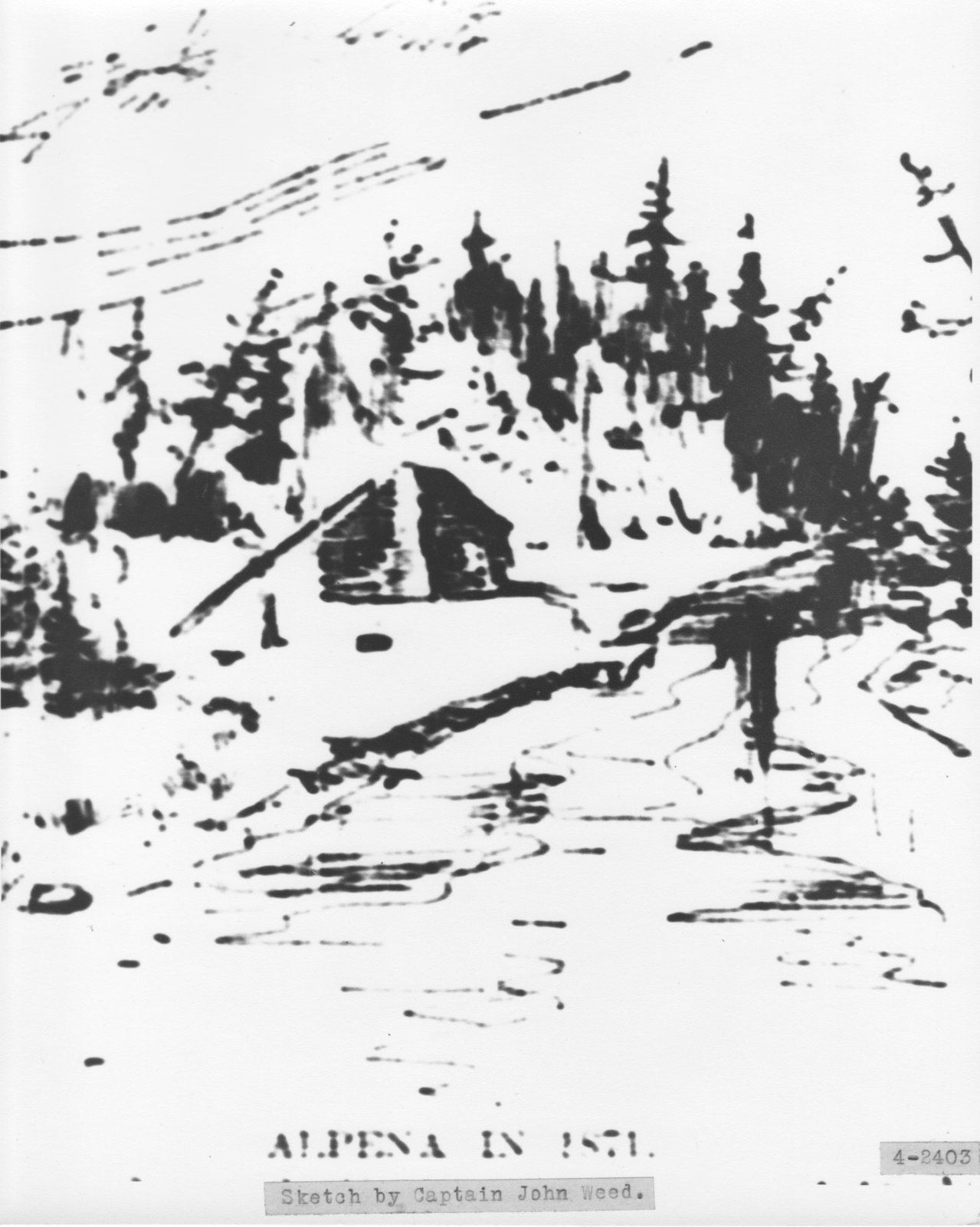 Sketch of Alpena in 1871