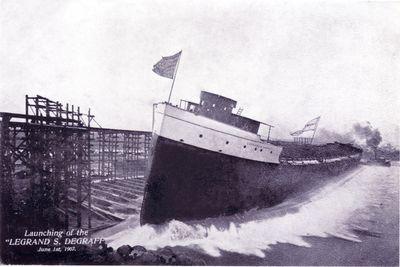 LEGRAND S. DEGRAFF (1907, Bulk Freighter)