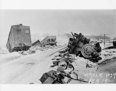 Train wreck at Falkenburg 1929