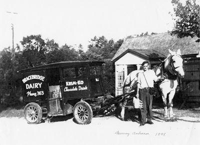 Bracebridge Dairy milkman 1948