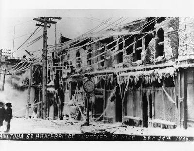 Bracebridge Manitoba Street Fire 1908