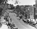 Parade up Manitoba Street Bracebridge 1930s?