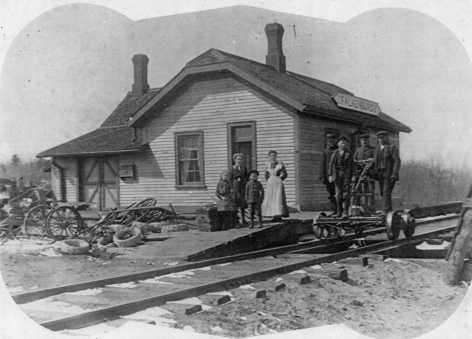 Train station at Falkenburg, Ontario
