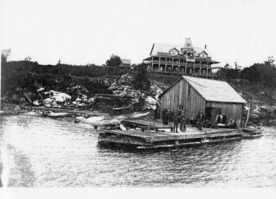 Windermere House in the early days, Lake Rosseau.