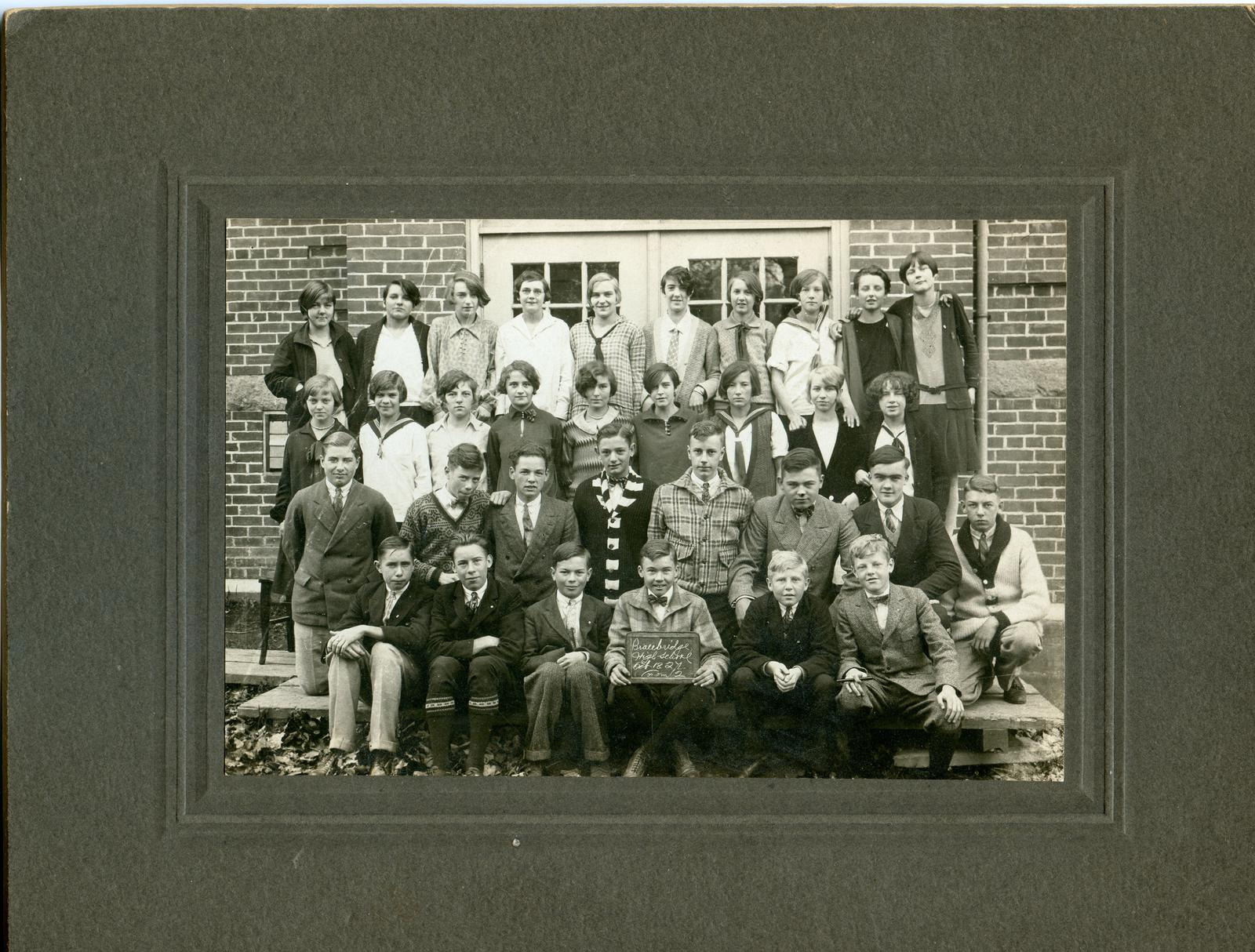 Bracebridge High School class 1927