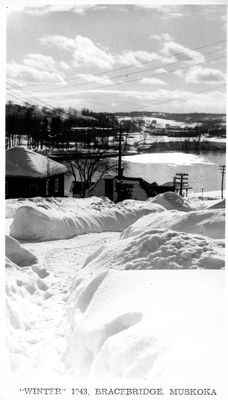 """Winter"" 1943, Bracebridge, Muskoka"