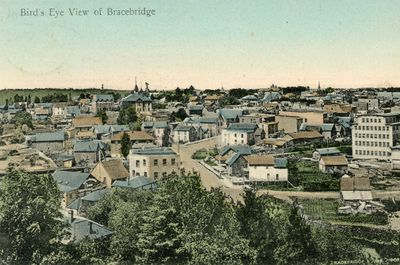 Bird's Eye View of Bracebridge - Bracebridge June 1908