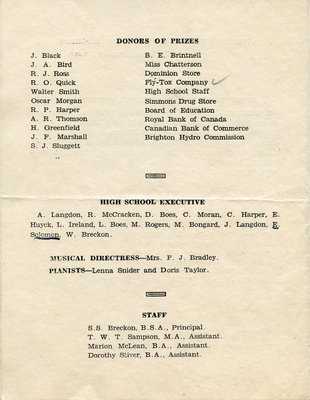 Brighton High School Commencement 1931