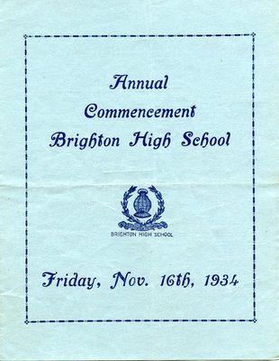 Brighton High School Commencement 1934