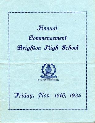 Brighton High School Commencement 1934
