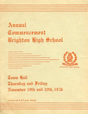 Brighton High School Commencement 1936