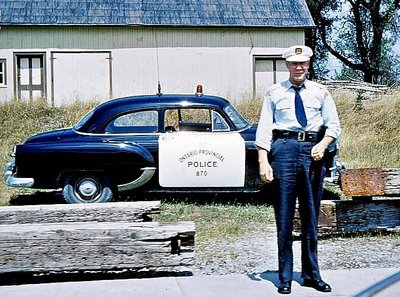 OPP Constable with Cruiser 1953