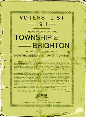 Brighton Township Voters' List 1911