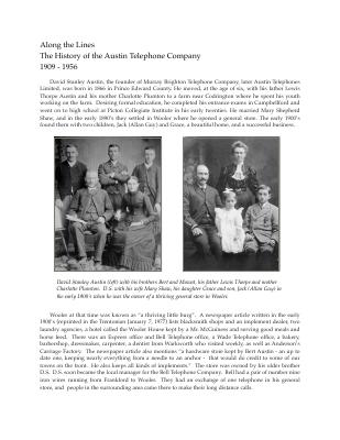 Along the Lines - A history of the Austin Telephone Company