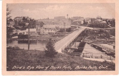 Bird's eye view of Burk's Falls, year unknown.