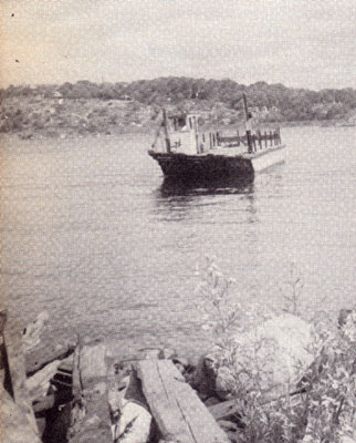 Ferry on the Magnetawan River, circa 1923.