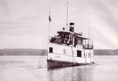 The Glenda on the water, circa 1908.