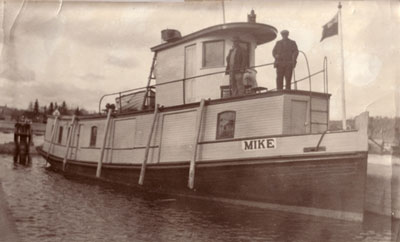 The Tugboat Mike at Dock, circa 1918