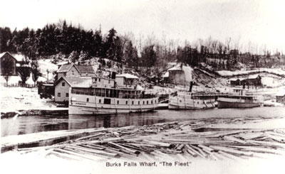 """The Fleet"" at Burk's Falls Wharf, circa 1909"