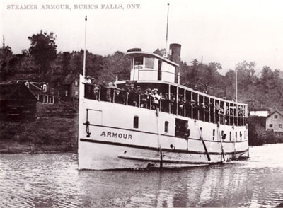 The Armour Steamer, Burk's Falls, circa 1908