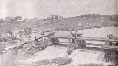 Wooden Burk's Falls Lock, circa 1900