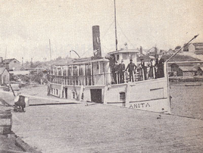 Docked Wanita with People on Deck, circa 1914