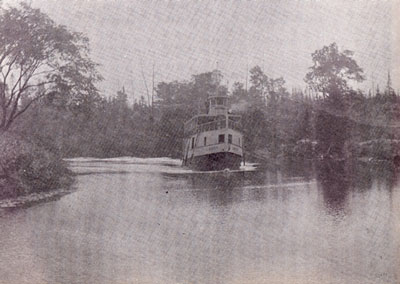 The Armour Sailing on the Magnetawan River, 1908.
