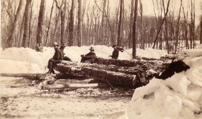 Four Loggers Resting, circa 1930