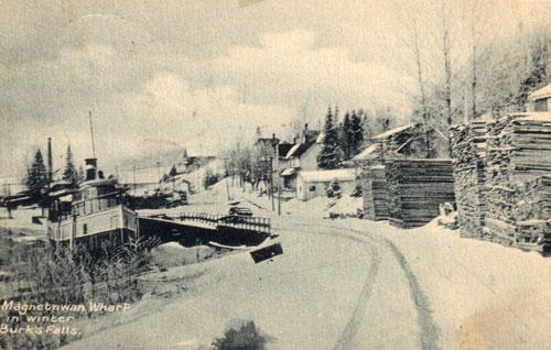Magnetawan Wharf in Winter, circa 1923